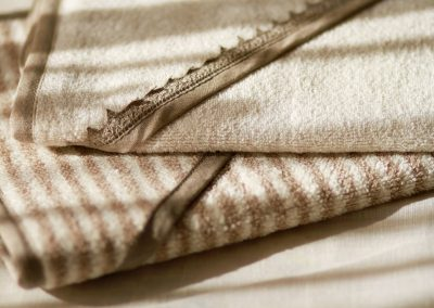 Linen terry towel ecru stripes